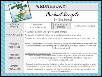 Michael Recycle: Lesson Plans & Worksheet!