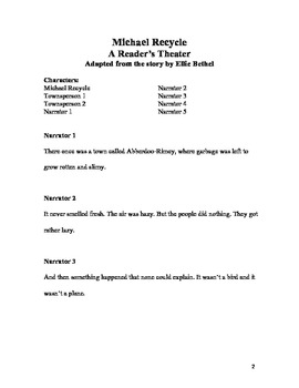 Michael Recycle Reader's Theater Script