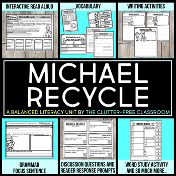 Michael Recycle by Ellie Bethel Book Companion Activities