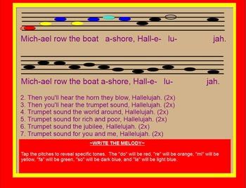 Michael, Row The Boat~Spiritual~preparing Tim-ka~ SMARTboard