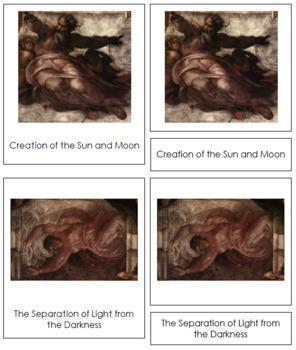 Michelangelo 3-Part Art Cards