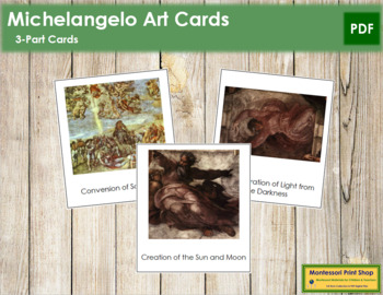 Michelangelo 3-Part Art Cards