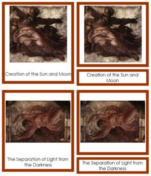Michelangelo 3-Part Art Cards - Color Borders
