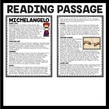 Michelangelo Article, Matching questions, Renaissance, Art History
