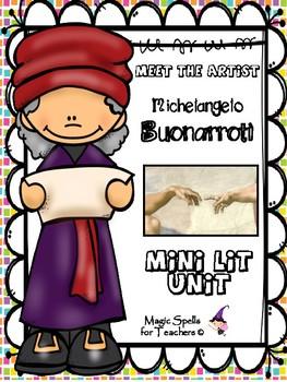 Michelangelo Buonarroti - Artist of the Month - Mini Lit Unit -FREEBIE SAMPLER