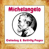 Michelangelo Coloring and Activity Book Pages - Good for D