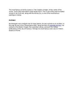 Michelangelo Information Sheet
