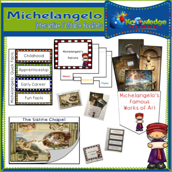 Michelangelo Interactive Foldable Booklets