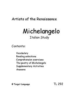 Michelangelo-Italian Study Guide