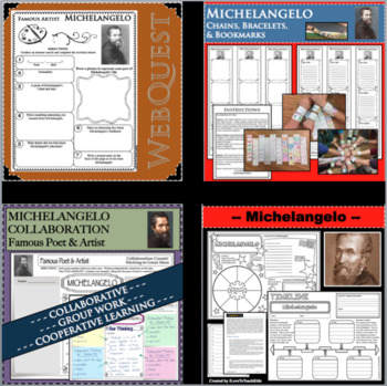 Michelangelo Timeline Poster Acrostic Poem Activity with Reading Passage
