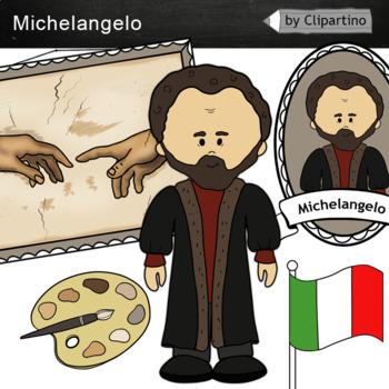Michelangelo clipart - Artists Clip Art