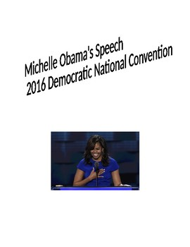 Michelle Obama 2016 Democratic National Convention Speech