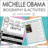 Michelle Obama Biography & Reading Response Activities | D