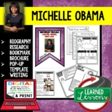Michelle Obama Biography Research, Bookmark, Pop-Up, Writing