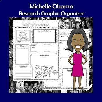 Michelle Obama Biography Research Graphic Organizer