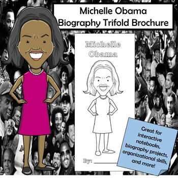 Michelle Obama Biography Trifold Brochure