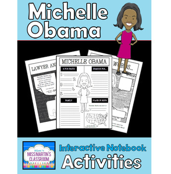 Michelle Obama Interactive Notebook Activities