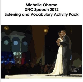 Michelle Obama Speech 2012 - Listening and Vocabulary Activities
