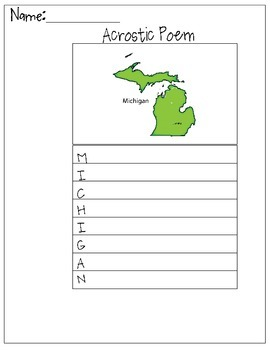 Michigan Acrostic Poem