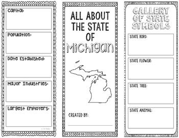 Michigan - State Research Project - Interactive Notebook - Mini Book