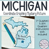 Michigan Coordinate Graphing Picture 1st Quadrant & ALL 4 Quadrants