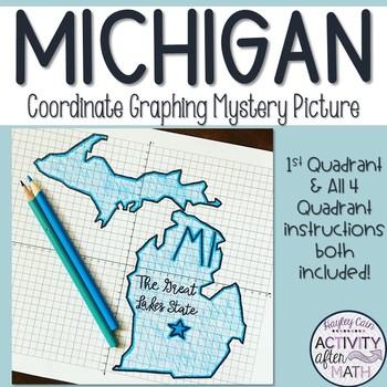 Michigan Coordinate Graphing Picture 1st Quadrant & ALL 4 Quadrants