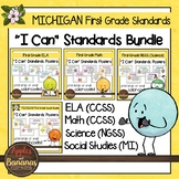 """Michigan First Grade Standards Bundle """"I Can"""" Posters"""
