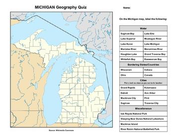 Michigan Geography Quiz