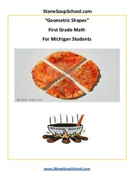 Grade 1  - Michigan  - Geometric Shapes - Common Core