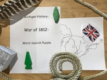 Michigan History- 14.0 War of 1812- Word Search Puzzle
