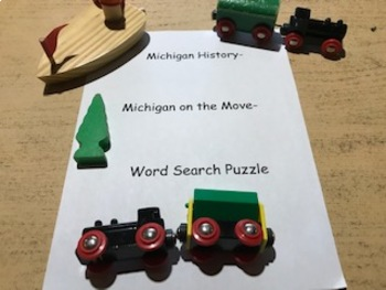 Michigan History- 21.0 Michigan on the Move- Word Search Puzzle