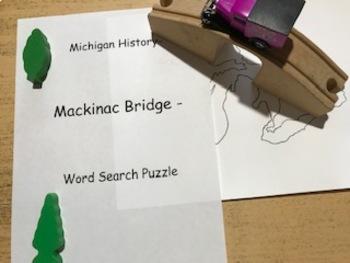 A. 29 Michigan History- Mackinac Bridge- Word Search Puzzle