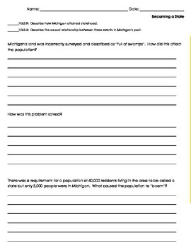 Michigan History Assessments