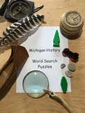 Michigan History- Great Lakes Word Search