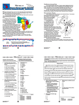 Michigan History Interactive Notebook Mini Unit + AUDIO!