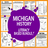Michigan History Bundle–11 Engaging Literacy-Based Michigan State Study Lessons