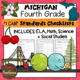 Michigan I Can Standards Checklists Fourth Grade