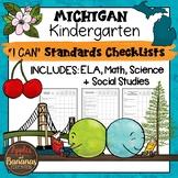 Michigan I Can Standards Checklists Kindergarten