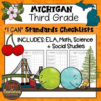 Michigan I Can Standards Checklists Third Grade
