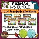 "Michigan K-5 ""I Can"" Standards Checklists Bundle"