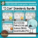 """Michigan Kindergarten Standards Bundle """"I Can"""" Posters"""