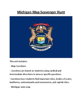 Michigan Map Scavenger Hunt