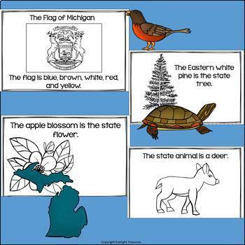 Michigan Mini Book for Early Readers - A State Study