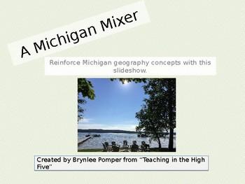 Michigan Mixer: A No-Prep Geography Review