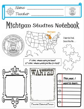 Michigan Notebook Cover