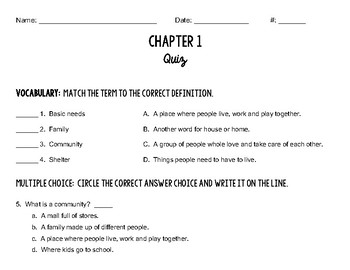 Michigan Open Book Chapter 1 Quiz