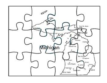 Michigan Puzzle Map