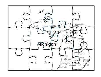 Michigan Puzzle Map