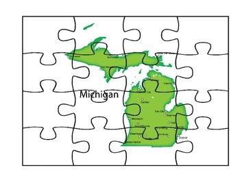 Michigan Puzzle Map Fun