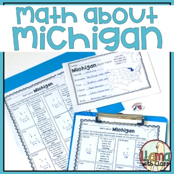 Math about Michigan State Symbols through Multiplication Practice